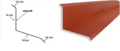 Obróbka obok ściany i kominowa boczna standard z 25cm na blachę