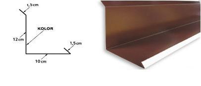 Obróbka obok ściany i kominowa boczna standard z 25cm pod blachę