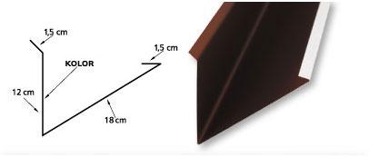 Obróbka kominowa górna standard z 33cm